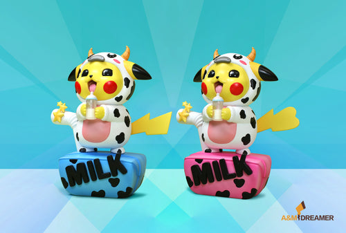 Milk Cow Cosplay Pikachu - Pokemon Resin Statue - A&M DREAMER [Pre-Order]
