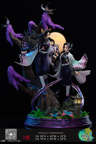 1/4 & 1/6 Scale Kochou Shinobu & Kochou Kanae with LED - Demon Slayer: Kimetsu no Yaiba Resin Statue - Hyperspace Studios [Pre-Order]