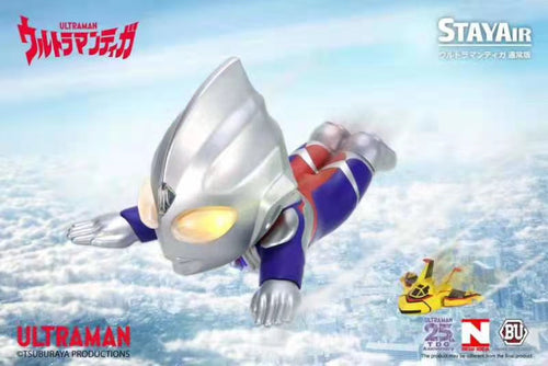 Genuine Authorization Chibi Version Ultraman Tiga with LED - Ultraman Statue - New Idea Studios [Pre-Order]