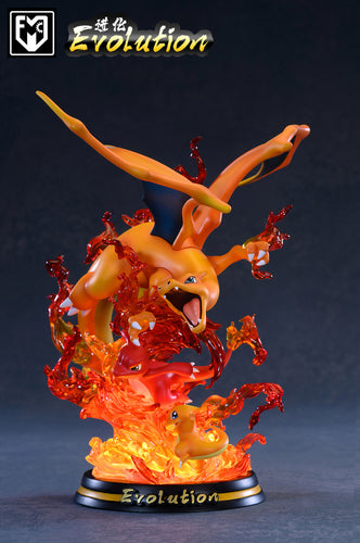 Evolution of Charizard with LED - Pokemon Resin Statue - MFC Studios [Pre-Order]