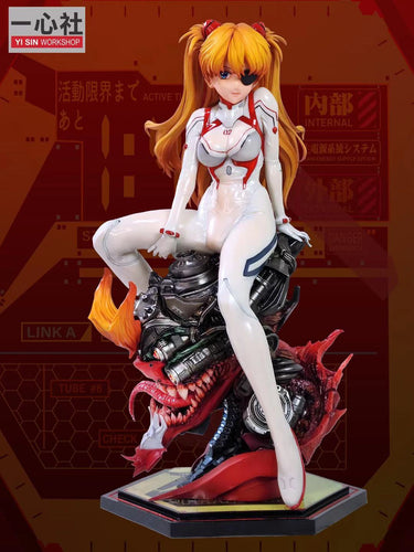 Princess in White Soryu Asuka Langley with LED - (EVA) Neon Genesis EVAngelion Statue - Yi Sin workshop [Pre-Order]