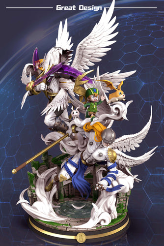 Angemon & Holy Angemon - Digimon Resin Statue - GD Studios [Pre-Order]