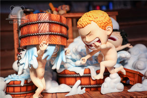 SD Scale Three brothers in bath - Sabo & Ace & Luffy - ONE PIECE Resin Statue - Emoji Studios [Pre-Order]