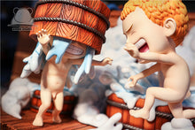 Load image into Gallery viewer, SD Scale Three brothers in bath - Sabo & Ace & Luffy - ONE PIECE Resin Statue - Emoji Studios [Pre-Order]