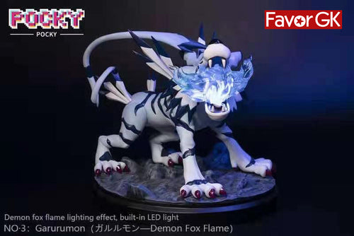 Garurumon with LED - Digimon Resin Statue - POCKY Studios [Pre-Order]