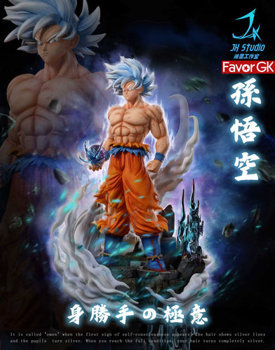 Ultra Instinct Son Goku with LED - Dragon Ball Resin Statue - ZX-Studio [Pre-Order]