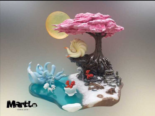 Alolan and Regular Ninetails & Vulpix - Private - Pokemon Resin Statue - Marble Studios [In Stock] - FavorGK