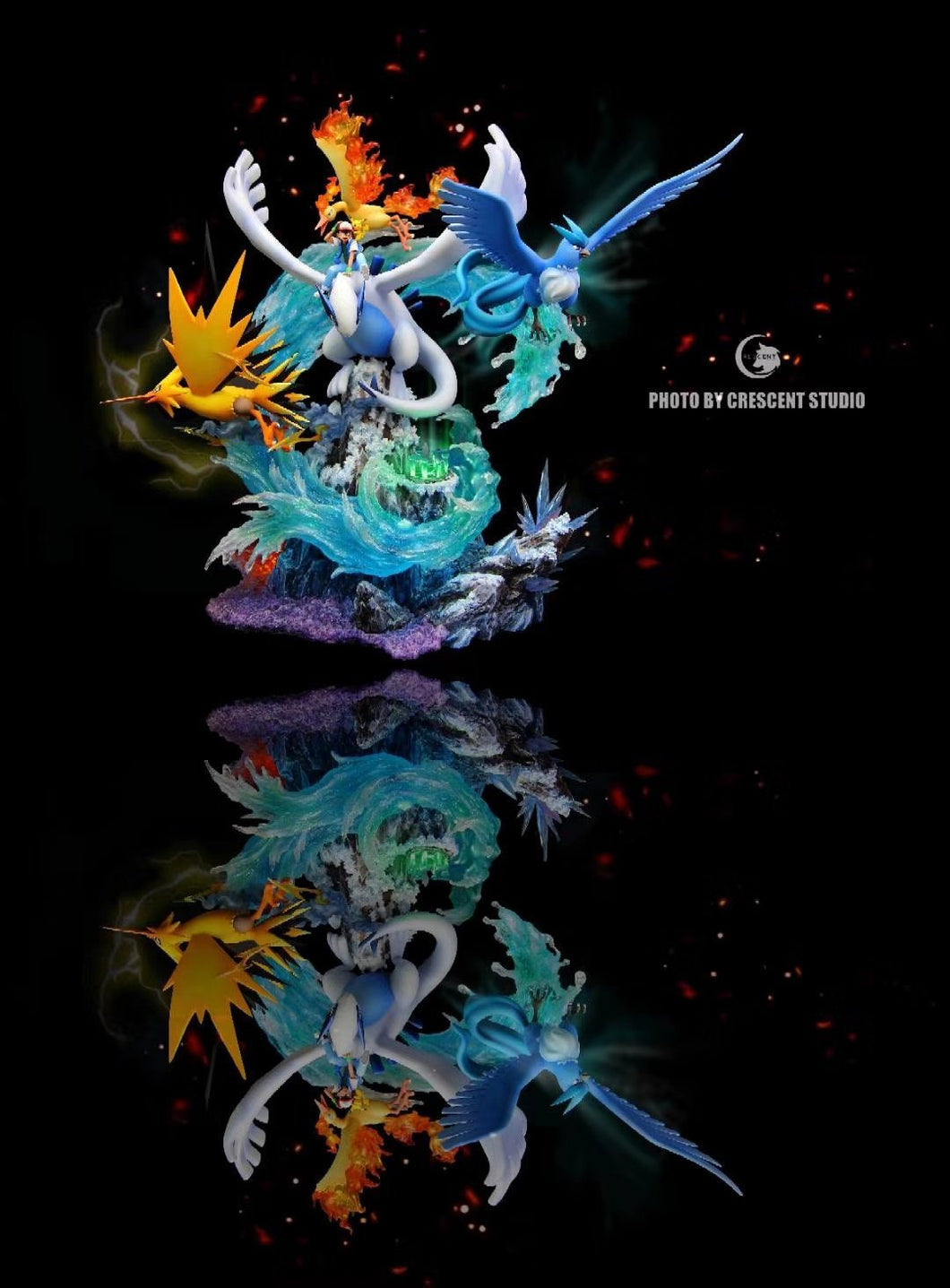 Sea & Lugia, Articuno, Zapdos, Moltres - Pokemon Resin Statue - Crescent Studios [In Stock] - FavorGK