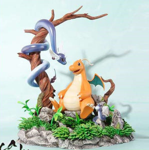 Rain Valley Dragonite, Dragonair & Dratini - Pokemon Resin Statue - Mecca Mai Studios [Pre-Order]