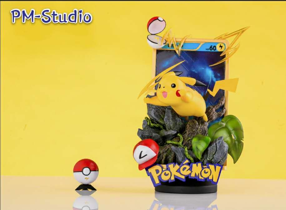 GBA Pikachu Jumping out From Card - Pokemon Resin Statue - PM-Studios [Pre-Order]