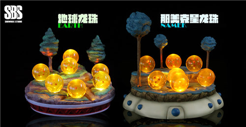 Namek Dragon Ball/ Earth Dragon Ball With LED - Dragon Ball Resin Statue - SBS SHOWBOX-Studios [Pre-Order]
