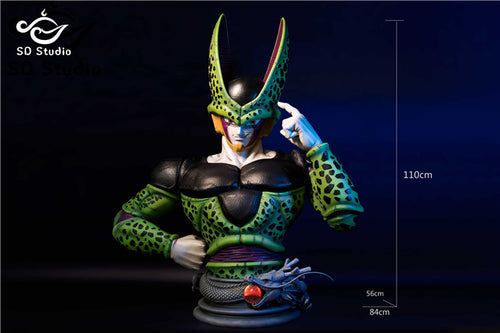 1:1 Scale Cell Bust Statue - Dragon Ball Resin Statue - SD-Studios [Pre-Order]