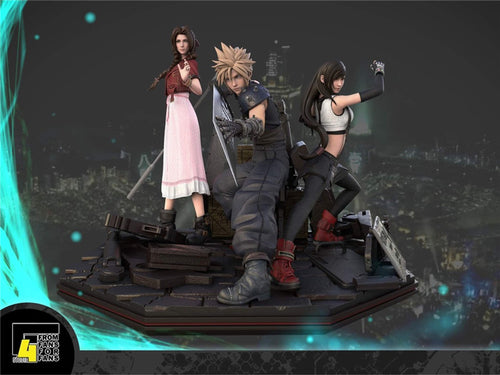 Cloud Strife, Tifa Lockheart & Aerith Gainsborough - (FF7) Final Fantasy VII Resin Statue - F4 Studios [Pre-Order]