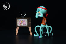 Load image into Gallery viewer, Working Out Squidward Tentacles - SpongeBob SquarePants Resin Statue - WuShuang Studios [Pre-Order]