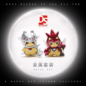 3CM Cosplay Pikachu Metal set - Pokemon Resin Statue - DS Studios [In Stock] - FavorGK