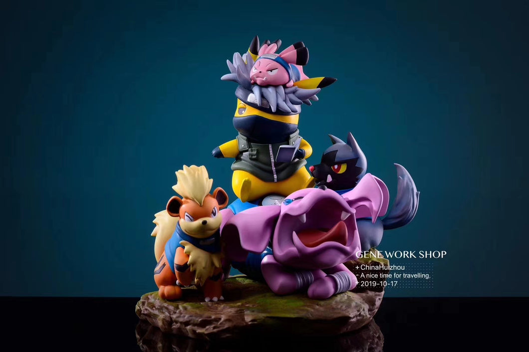 NARUTO Cosplay Pikachu - Naruto Pokemon Resin Statue - Gene Studios [In Stock] - FavorGK