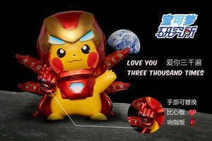 8CM Iron man Cosplay Pikachu - Pokemon Resin Statue - PL Studios [In Stock] - FavorGK