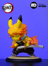 Load image into Gallery viewer, Kamado Tanjirou, Kamado Nezuko and Agatsuma Zenitsu Cosplay Pikachu - Pokemon Demon Slayer: Kimetsu no Yaiba Resin Statue - MidoToys Studios [Pre-Order] - FavorGK