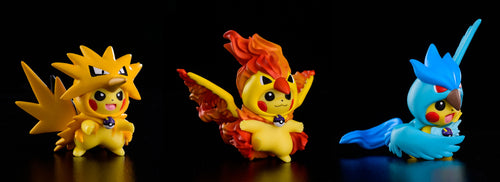 3CM Articuno Zapdos Moltres Cosplay Pikachu - Private - Pokemon Resin Statue - DS Studios [In Stock] - FavorGK