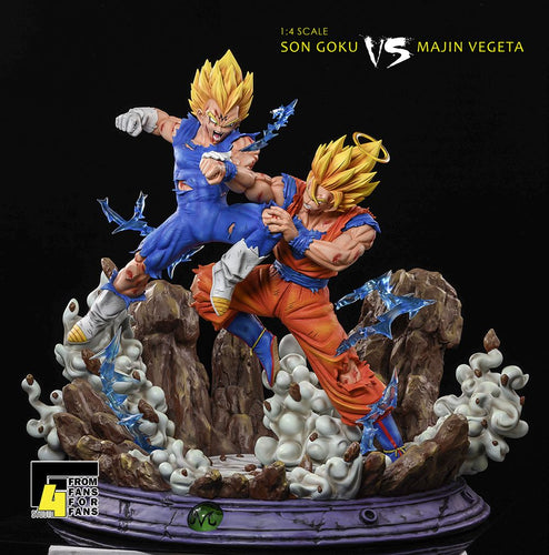 1/4 Scale Super Saiyan 2 Son Goku vs Demonize Vegeta IV - Dragon Ball Resin Statue - F4 Studios [Pre-Order] - FavorGK