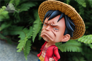 SD Scale Unhappy Luffy - ONE PIECE Resin Statue - Emoji Studios [Pre-Order] - FavorGK