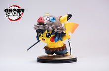 Load image into Gallery viewer, Agatsuma Zenitsu/ Hashibira Inosuke Cosplay Pikachu - Pokemon Demon Slayer: Kimetsu no Yaiba Resin Statue - Ghost Studios [Pre-Order] - FavorGK