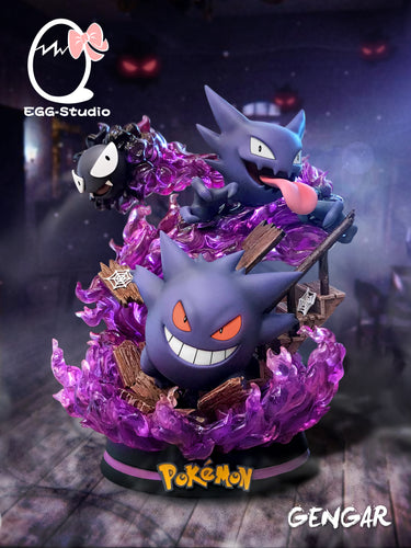 Gengar Family (Gengar, Haunter & Gastly) - Pokemon Resin Statue - EGG Studios [Pre-Order] - FavorGK