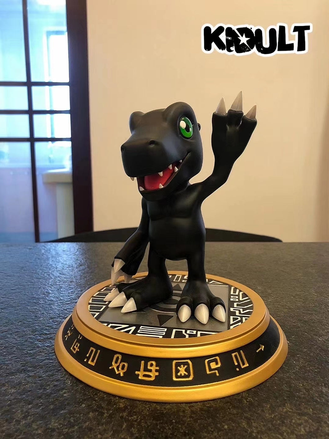 Black Version Agumon - Digimon Resin Statue - KIDULT Studios [Pre-Order]