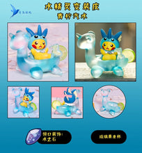 Load image into Gallery viewer, Eevee Family Cosplay Pikachu Enjoying Afternoon Tea Set 1 - Pokemon Resin Statue - QN Studios [Pre-Order]