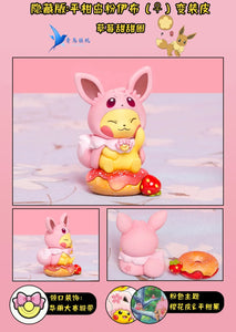 Eevee Family Cosplay Pikachu Enjoying Afternoon Tea Set 1 - Pokemon Resin Statue - QN Studios [Pre-Order]