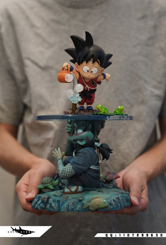 Little Son Goku And Ninja - Dragon Ball Resin Statue - FATTBOY Studios x DAYU Studios [Pre-Order]