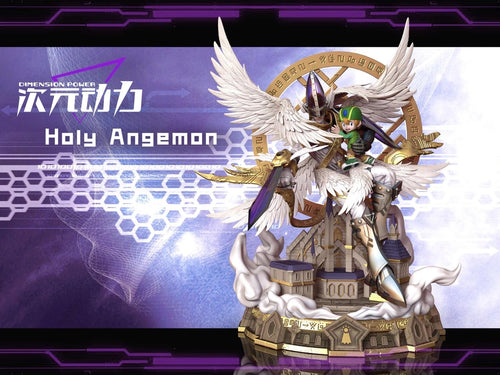 Takaishi Takeru & Holy Angemon with LED - Digimon Resin Statue - Dimension Power Studios [Pre-Order]