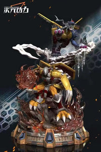 WarGreymon & Metal Garurumon - Digimon Resin Statue - Dimension Power Studios [Pre-Order]