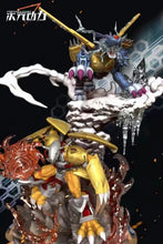 Load image into Gallery viewer, WarGreymon & Metal Garurumon - Digimon Resin Statue - Dimension Power Studios [Pre-Order]