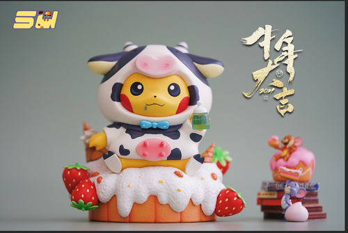 14CM Milk Cow Cosplay Pikachu - Pokemon Resin Statue - SU Studios [Pre-Order]