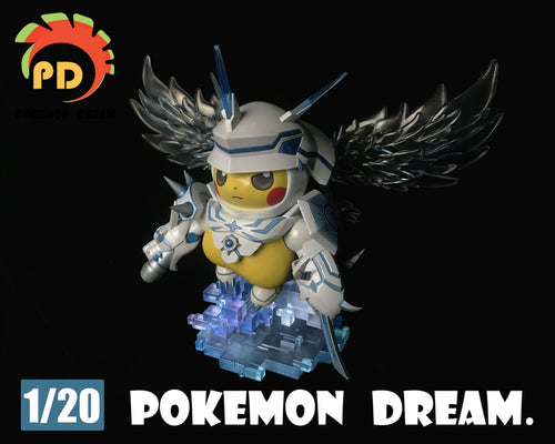 Omegamon Cosplay Pikachu - Digimon Pokemon Resin Statue - Poke Dream Studios [Pre-Order]