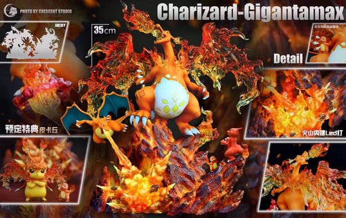 Gigantamax Charizard with LED - Pokemon Resin Statue - Crescent-Studios [Pre-Order]