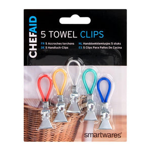 Chef Aid 5 Towel Clips