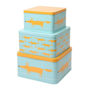 Mr Fox Set of 3 Square Cake Tins
