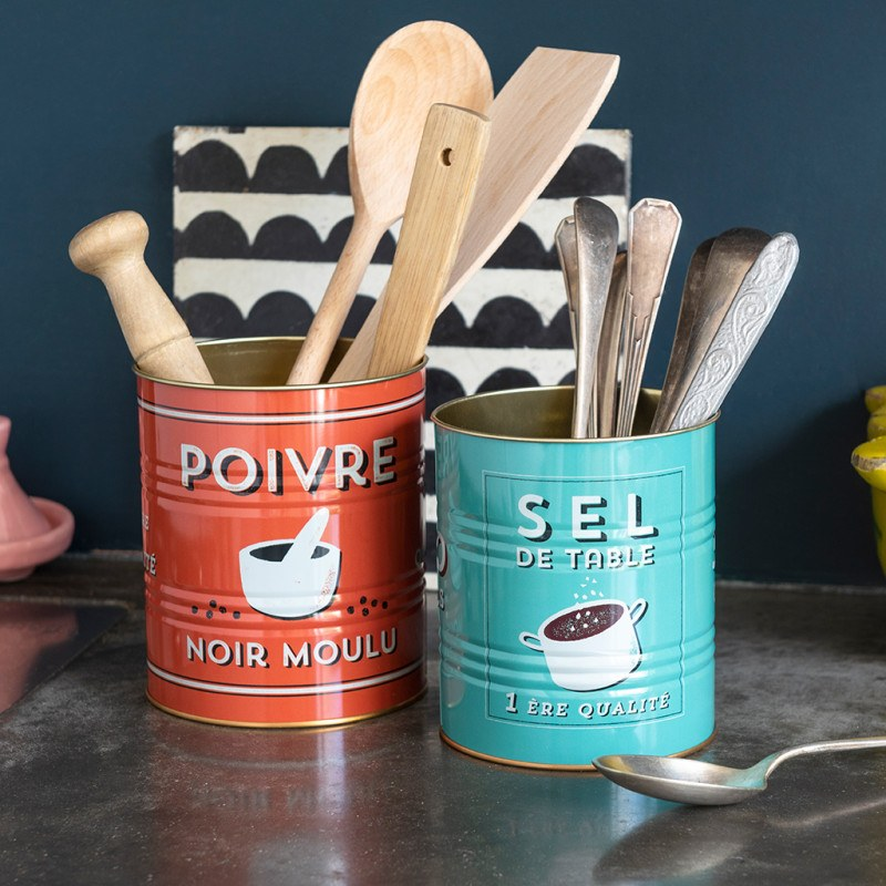 Salt & Pepper Storage Tins (Set of 2)