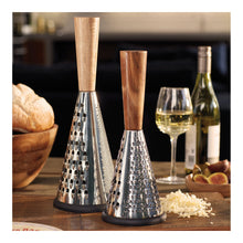 Load image into Gallery viewer, Conical Grater with Wooden Detail