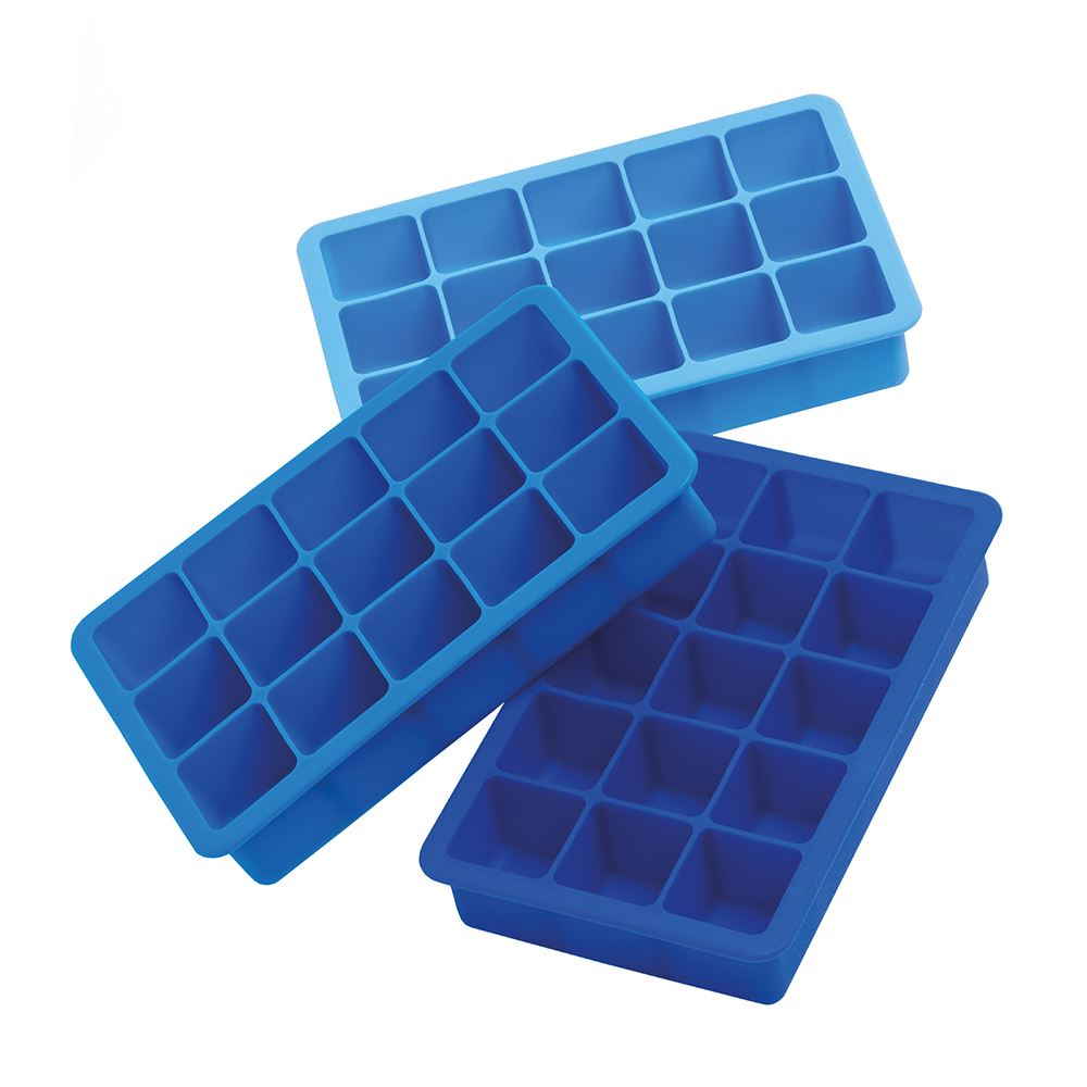 Blue 3.5cm Ice Cube Tray  /3 pack