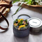 Load image into Gallery viewer, Glass Lunch Pot 450ml /Slate