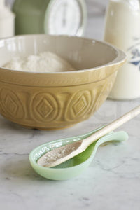 Green Milk Glass Spoon Rest