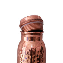 Load image into Gallery viewer, Copper Bottle Hammered /600ml