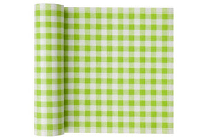 GreenGingham Cocktail Napkins on a roll