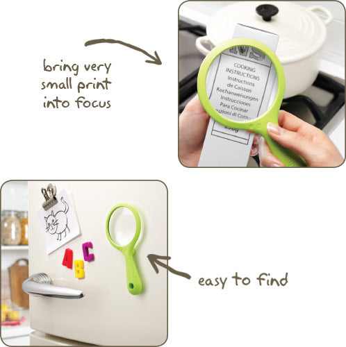 Fridge Magnet Magnifying Glass