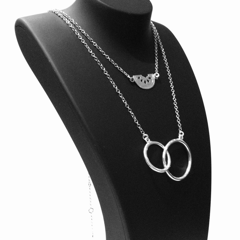 2-3 in 1 Sterling Silver Layered Necklace