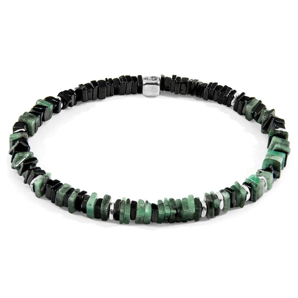 Green Emerald Innot Silver and Stone Bracelet