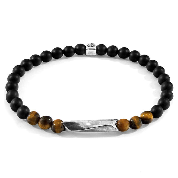 Brown Tigers Eye Orinoco Silver and Stone Bracelet